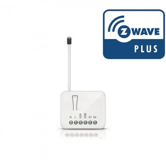 Doble Relé ON / OFF Relé 2x1,5kW con medición consumos - ZIPATO Z-Wave Plus