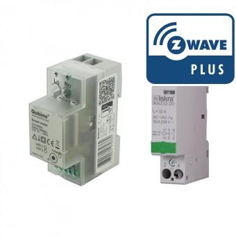 Pack Medidor de consumo Z-Wave Plus y contactor 32A - QUBINO