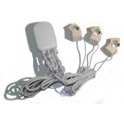 Medidor de consumo eléctrico (3 pinza  100A), v.G2 - AEON LABS