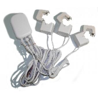 Medidor de consumo eléctrico Z-Wave con triple pinzas 200A, Versión G2