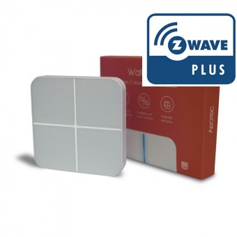 WallMote Quad - Control de Pared con 4 Botones - Aeotec