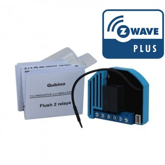Módulo oculto On/Off Doble con medidas de consumo Z-Wave Plus Qubino