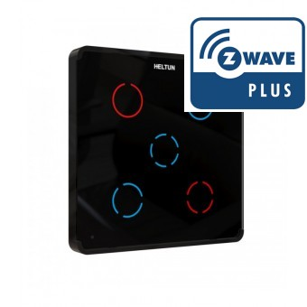 Interruptor Pared Cinco Canales - Z-Wave Plus - HELTUN
