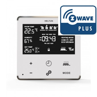Termostato de pared  para calefacion - Z-Wave Plus - Heltun
