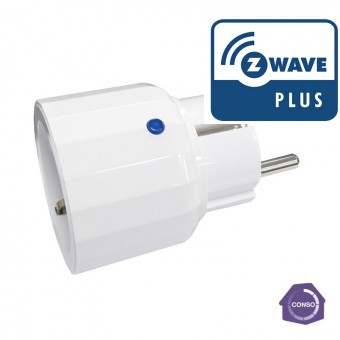 Mini Enchufe On / Off Medidor de Consumo Z-Wave Plus Everspring