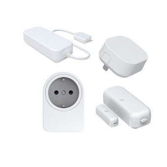 Pack - FOXX de 4 accesorios (enchufe, sensor de puerta / ventana, repetidor y sensor de agua)