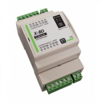 Modulo extension X8D de 8 entradas digitales (optoacoplador) para IPX800 V4 - GCE ELECTRONICS