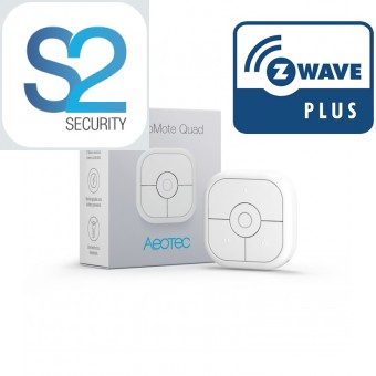 Mando a distancia recargable de 4 botones Aeotec NanoMote Quad  Z-Wave Plus