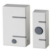 Door bell with push button-white