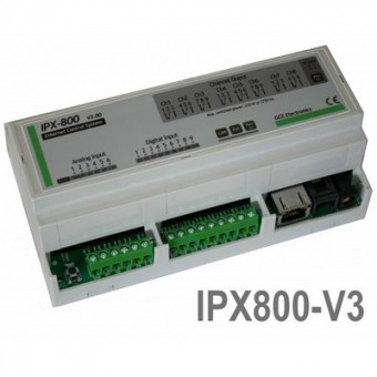 DIN Rail Módulo Webserver 8 relés IPX800 V3.0